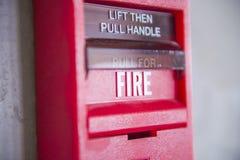Interruptor de la alarma Imagen de archivo libre de regalías