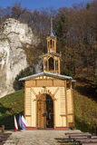 Interruptor de la capilla El artesano de Jozefa llamó la capilla en el agua en Ojcowie Imagen de archivo libre de regalías