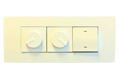 Interruptor de la luz eléctrico de la pared moderna Fotografía de archivo libre de regalías