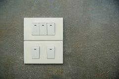 Interruptor de la luz en el cemento superficial en Tailandia Fotografía de archivo