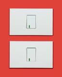 Interruptor de la luz encendido-apagado Fotografía de archivo libre de regalías