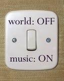 Interruptor de la música Imagen de archivo libre de regalías