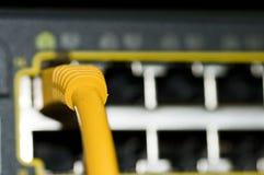 Interruptor de la red de Ethernet Foto de archivo libre de regalías