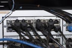 Interruptor de la red de Ethernet Imágenes de archivo libres de regalías