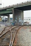 Interruptor de la vía del tren Imagenes de archivo