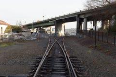 Interruptor de la vía del tren Imagen de archivo