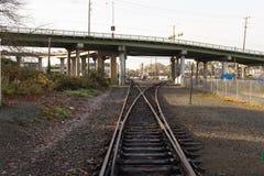 Interruptor de la vía del tren Fotografía de archivo