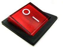 Interruptor de potência vermelho imagens de stock
