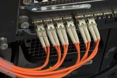 Interruptor de red óptico imágenes de archivo libres de regalías