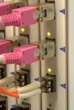 Interruptor de red óptico fotografía de archivo