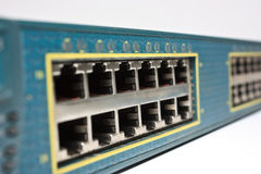 Interruptor de red Fotos de archivo