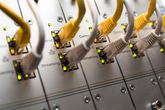 Interruptor de rede imagens de stock