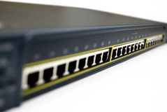 Interruptor de rede de alta velocidade fotografia de stock royalty free