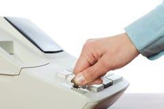 Interruptor de selector de modo en la caja registradora Fotografía de archivo libre de regalías