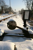 Interruptor del ferrocarril imagen de archivo