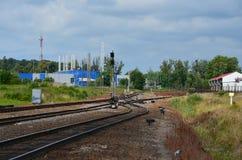 Interruptor del ferrocarril del cargo Foto de archivo libre de regalías