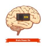 Interruptor del poder mental encendido Concepto fuerte de la mente Imagen de archivo libre de regalías