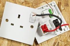 Interruptor del socket abierto Foto de archivo libre de regalías