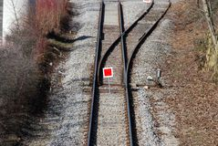 Interruptor del tren Imágenes de archivo libres de regalías