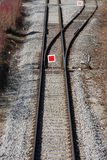 Interruptor del tren fotografía de archivo libre de regalías