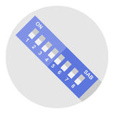 Interruptor dip de la imagen del vector Fotografía de archivo libre de regalías