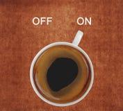 Interruptor do café sobre fotos de stock