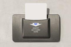 Interruptor do cartão chave imagem de stock