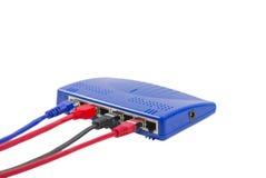 Interruptor do Ethernet imagens de stock royalty free