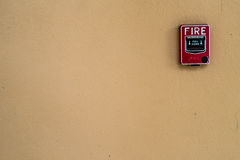 Interruptor do fogo vermelho fotos de stock