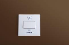 Interruptor do isolador do fã Imagens de Stock