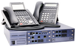 Interruptor do telefone e telefones digitais Fotos de Stock