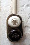 Interruptor do vintage em uma parede imagens de stock royalty free