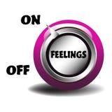 Interruptor dos sentimentos ilustração royalty free