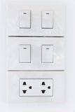 Interruptor e plugue elétricos foto de stock