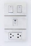 Interruptor e plugue elétricos imagem de stock royalty free