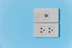 Interruptor e plugue elétricos Foto de Stock Royalty Free