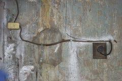 Interruptor e socke plásticos Fotografia de Stock