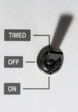 Interruptor eléctrico Fotos de archivo libres de regalías