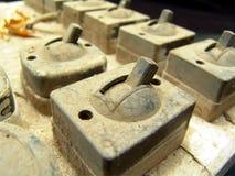 Interruptor eléctrico de la vendimia vieja Imagen de archivo libre de regalías