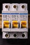 Interruptor eléctrico eléctrico Imagen de archivo libre de regalías