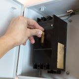 Interruptor elétrico imagens de stock