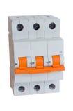 Interruptor elétrico trifásico Fotos de Stock