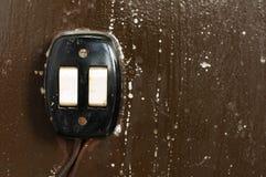 Interruptor elétrico velho fotos de stock