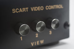Interruptor electrónico del scart Foto de archivo