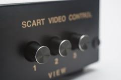 Interruptor electrónico del scart Imágenes de archivo libres de regalías