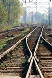 Interruptor ferroviario foto de archivo