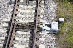 Interruptor ferroviario Imágenes de archivo libres de regalías