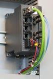 Interruptor industrial de Ethernet Fotografía de archivo libre de regalías