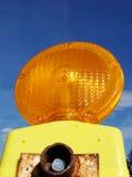 Interruptor intermitente anaranjado de la construcción Foto de archivo libre de regalías