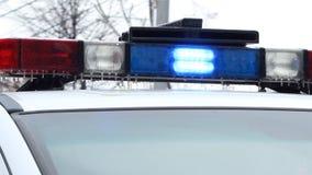 Interruptor intermitente congelado de la policía almacen de metraje de vídeo